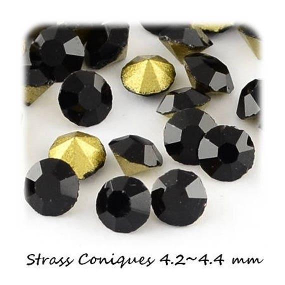 10 Strass Diamant [Jet] 4.2~4.4mm