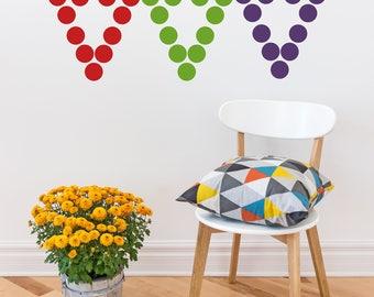 Rainbow Polka Dot Decals // Peel and Stick Dots // Polka Dot Stickers // Nursery Wall Decor // Playroom Stickers // Wall Decals