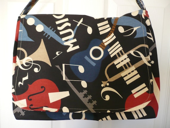 Musical Theme Messenger Diaper Bag