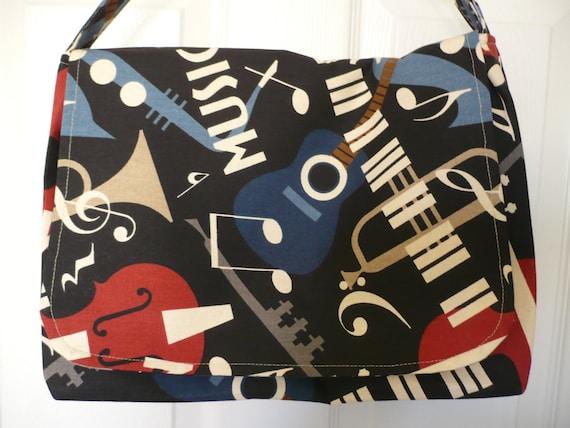 Musical Theme Messenger Diaper Bag