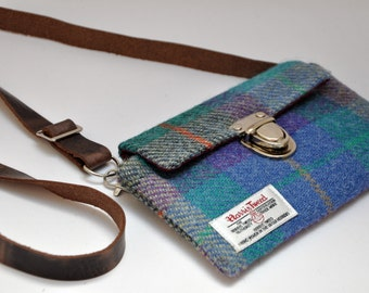 HARRIS TWEED fabric belt bag/hip bag/fanny pack/ waist bag /small phone shoulder bag - All in One
