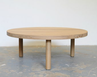 White Oak Coffee Table FREE SHIPPING Round  - Dylan Design Co.