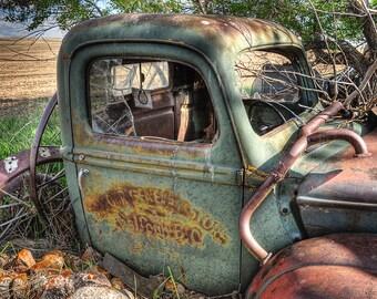 Vintage, Ford truck print