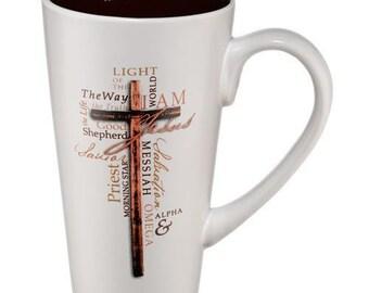 Christian Mug - Names of Jesus. The names of Jesus coffee mug is an outstanding gift item