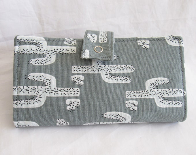 Cash Budgeting System Wallet, Dave Ramsey Envelope Budget Wallet, Cactus Zippered Envelope Wallet, 2 4 6 or 8 Fabric Envelope