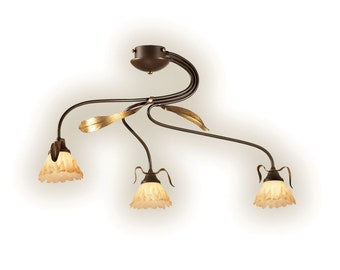 Hand Crafted Ceiling Mount, Italian Lighting, Ceiling Mount, Lighting, Tropical Lighting