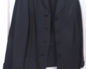 Vintage Wool Crepe Jacket From The 1930's- Marked Down To Thirty  Dollars!