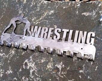 Wrestling medal display, medal holder
