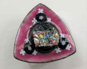 Large Enameled Shank Button 2017 B-73