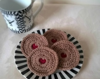 Jam Biscuit Fridge Magnets - Crochet Magnets - Fun Gifts - Gifts for Her - Gifts For Him - Valentine's Day - Birthday Gifts
