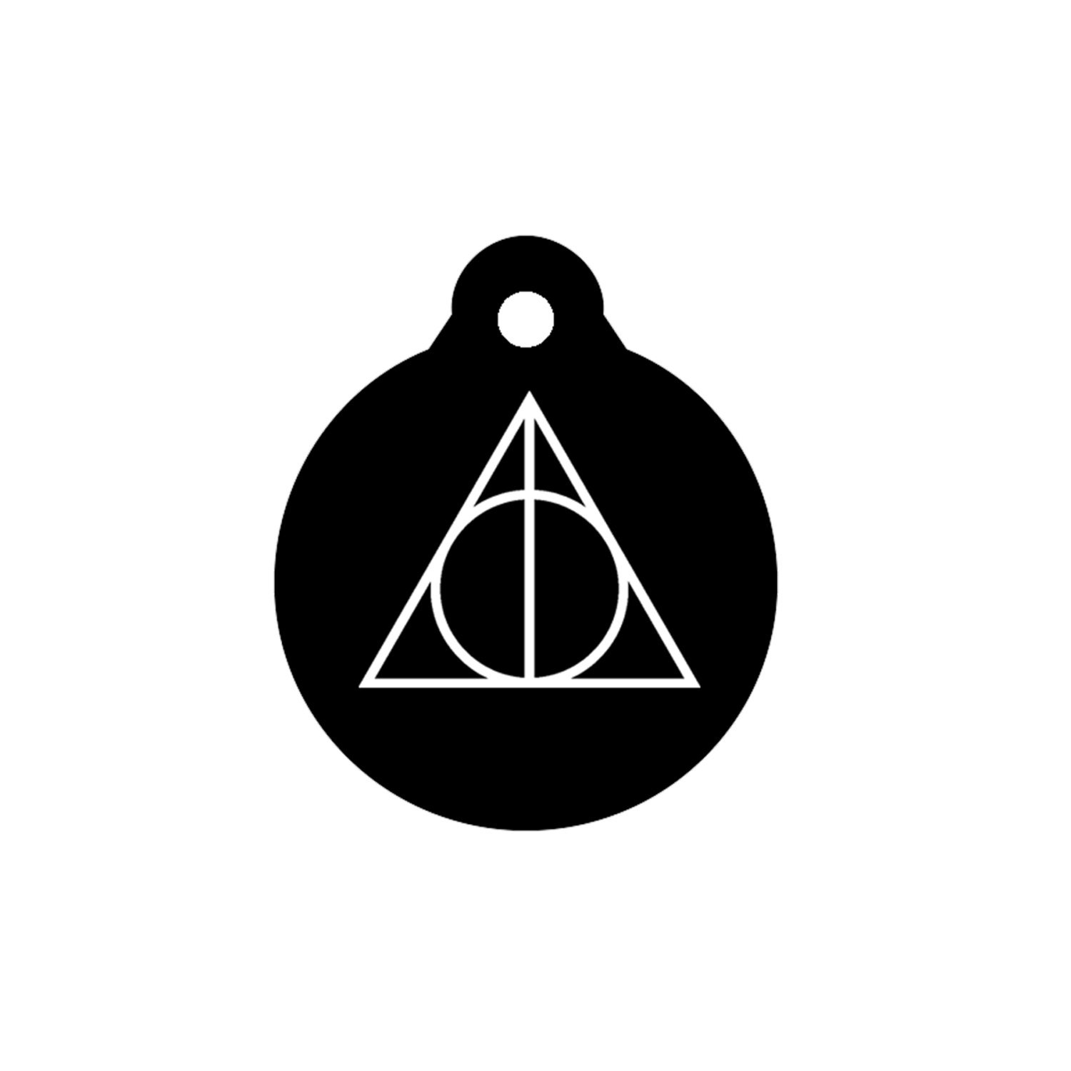 Deathly hallows harry potter symbol magic dog tag pet id tag zoom biocorpaavc