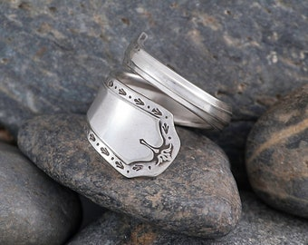Silverware Handle Ring (Spoon Ring) Size 7 1/2 SR143
