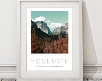 Yosemite National Park A3 / A2 Poster | Wall Art | Destinations | Photography