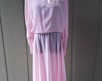 Vintage Pink Chiffon Ursula of Switzerland