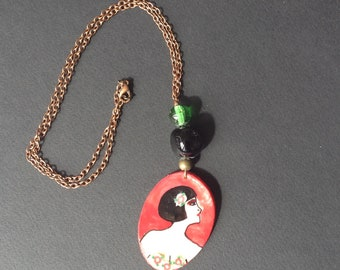 "Necklace ""Women of the world"" retro style"