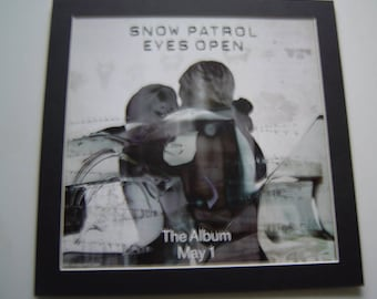 Snow Patrol Eyes Open  Original  Poster in A Custom Made Mount Ready To Frame