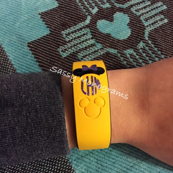 Glitter Magic Band Mickey Or Minnie Mouse Personalized - Magic band vinyl decals