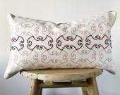 Lumbar Embroidered Pillow Cover - EMBROIDERED BOSPHORUS PEACH