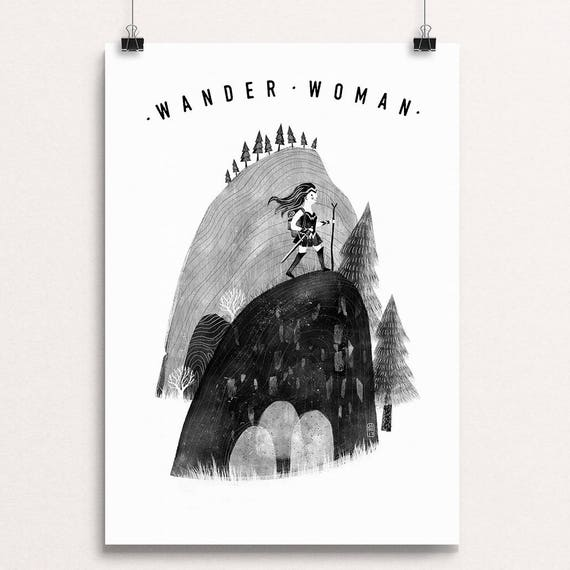 Wander Woman 2017 - Signed print