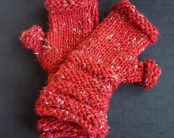 Knit Fingerless Handwarmers