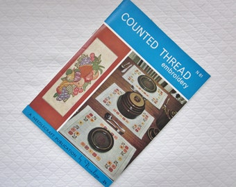 COUNTED THREAD Embroidery, A Needlecraft Publication by Penelope, No.61 -Embroidery Patterns and Ideas 1950's