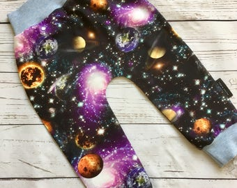 Space Leggings - Boys leggings, Baby Leggings, Toddler Leggings, boys clothes, Space Pyjamas