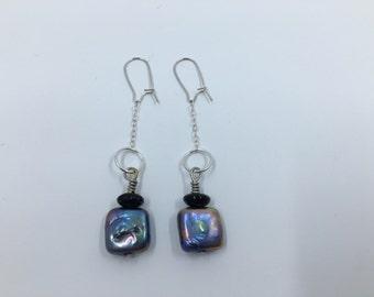 Colored Freshwater Pearl Dangle Earrings