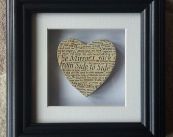 Vintage Recycled Agatha Christie Literary Heart - Agatha Christie - Vintage - Miss Marple - Poirot - Literary Gifts - Handcrafted Heart