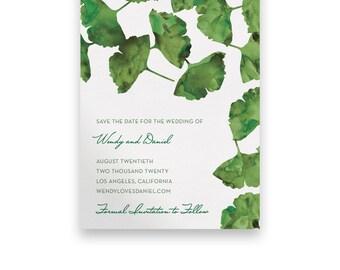 Garden Wedding Save the Date/Wedding STD/Wedding Save The Dates/Save-The-Date/Green/Watercolor/Script/Floral/Greenery/Summer/Spring