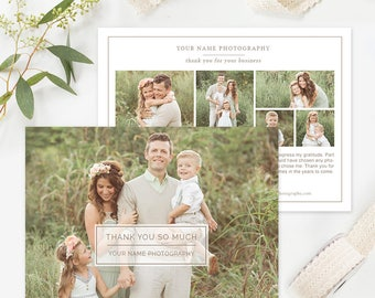 Photography Thank You Card Template, Photography Forms, Photography Marketing Templates, Photography Branding Organic Set