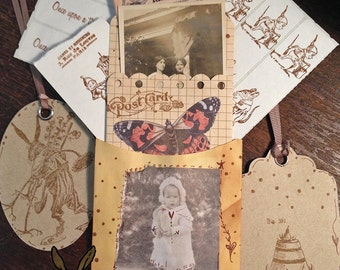 TiffanyJane-Lost Childhood-Papier Set-Home Decor-Mixed media-Art Collage-Vintage Style Keepsakes-Paper goods