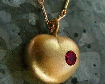Love Actually Heart Necklace in Gold Plated - with back plate