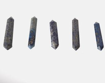 Lapis Lazuli Double Terminated Points Blue Stone Set of 3 - Free Shipping