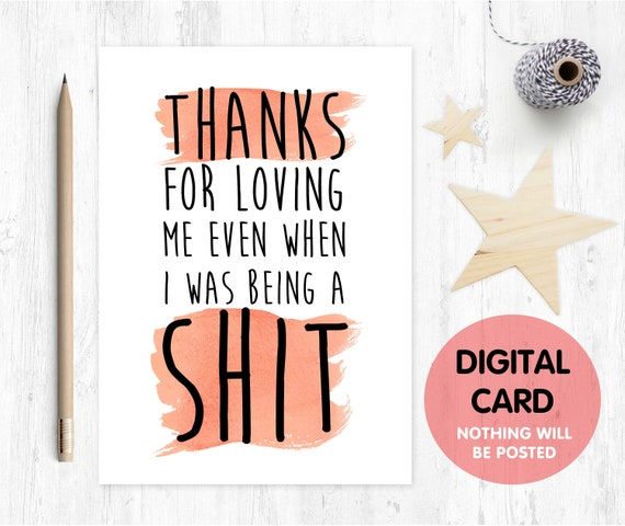 PRINTABLE funny father's day card printable funny anniversary card digital download funny valentine card thanks for loving me boyfriend