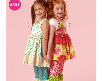 McCall's M6877 Size 2-3-4-5 Children's/Girls' Pullover Top, Dress and Pants Sewing Pattern / Uncut/FF