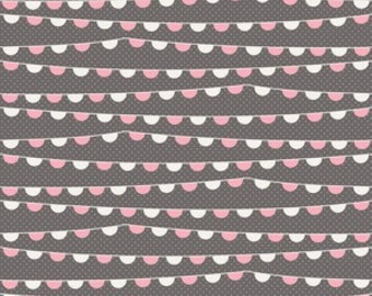 SALE 1 Yard Riley Blake Remember Banner in Gray