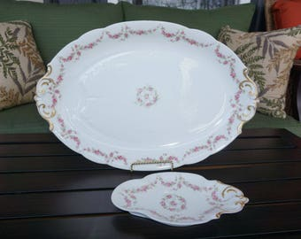 D and Co. France L. Bernardaud & Co. Limoges Meat Platter and Serving Dish