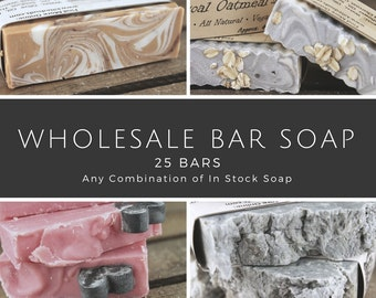 Bulk Bar Soap, 25 bars, wholesale bar soap, wholesale soap, wholesale vegan soap, wholesale natural soap, Vegan Bar Soap, bulk soap