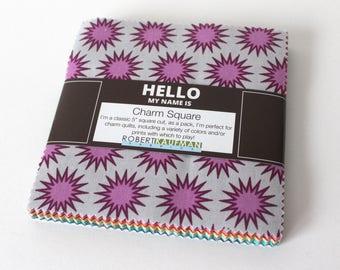 Paintbox Basics Charm Pack by Elizabeth Hartman for Robert Kaufman-Quilt Fabric Destash-OOP Charm Pack-Bright Charm Pack-Clearance Fabric