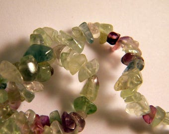 30 beads fluorite chips nuggets 5-8 mm B24