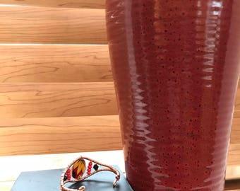 Red & Black Copper Cuff