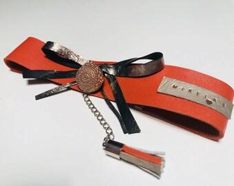 UNIQUE Leather Necklace Chokers