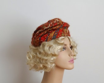 ON SALE - Vintage 1960s Hat - 60s Slouch Hat - The Janey