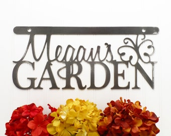 Metal Wall Hanging   Metal Sign   Personalized Gift   Garden Sign   Metal Wall Art   Metal Garden Sign   Wall Decor