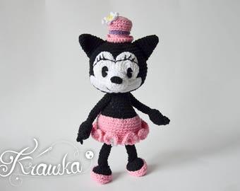 Crochet PATTERN No 1802 Vintage Ortensia the Cat by Krawka
