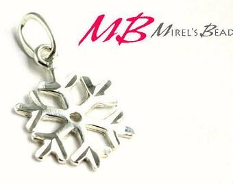 10x14mm Snowflake Pendant, Snow Flake Charm
