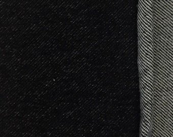 "Stretch Denim-65""-Black-Knit"