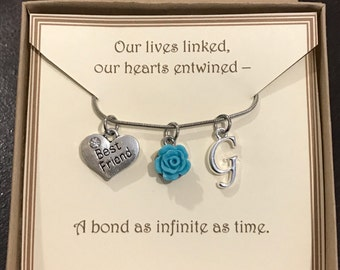 Personalized Friendship Necklace - C109 - Best Friends Necklace - Personalized Gift - BFF - Gift for Friend - Birthday Gift for Friend