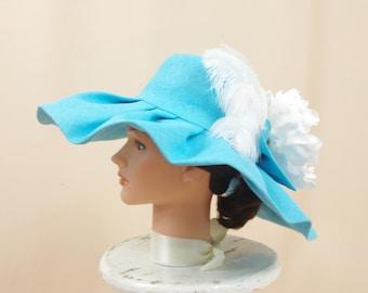 162cd83eb5f Silver and Black Wide Brim Hat Black Hat Floppy Hat