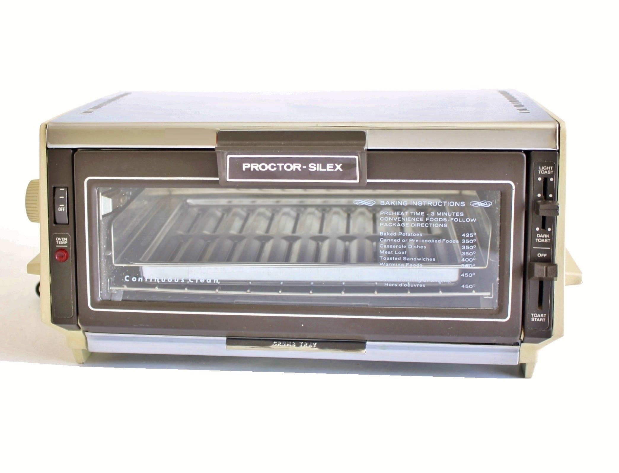 Proctor Silex Toaster Oven 0221AL Made in USA Small Appliance